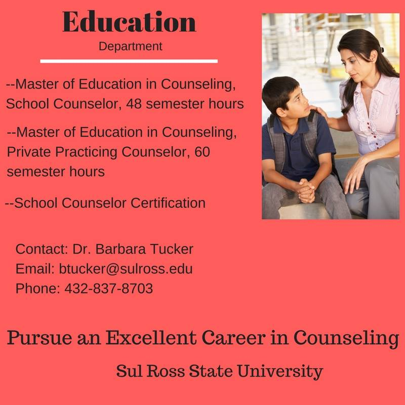 Launch Your School Counseling Career At Sul Ross State University