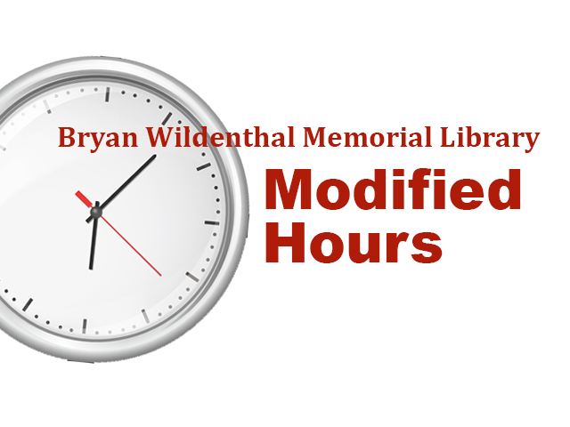 SRSU Library modified hours